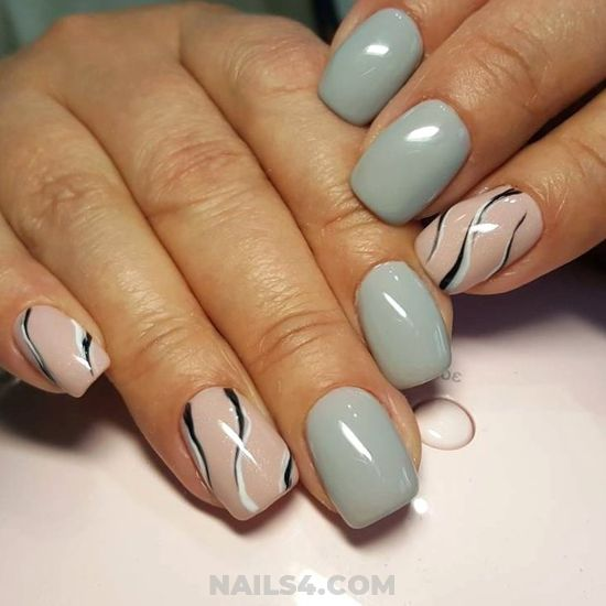 Chic Inspirational Acrylic Nails Ideas - sweet, nailartdesign, nails, glamour