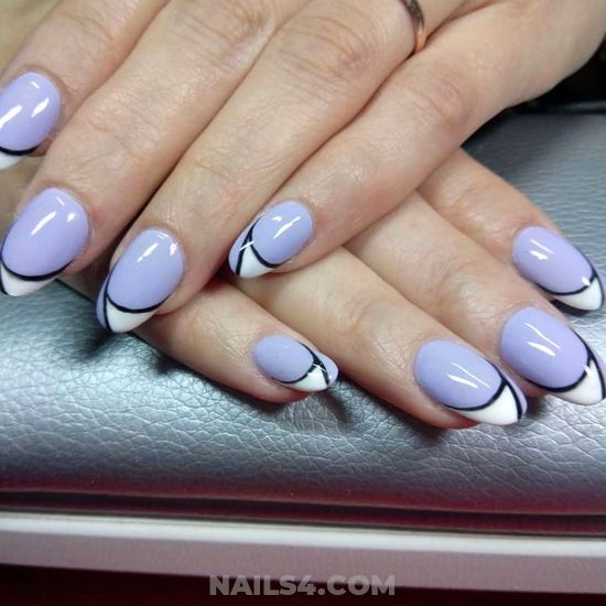 Classic Iconic American Gel Manicure Art Ideas - magic, nails, love, dainty