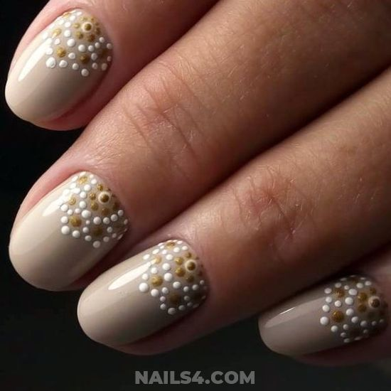 Classic & Neat Gel Nails Art Ideas - nail, diynailart, enchanting, royal