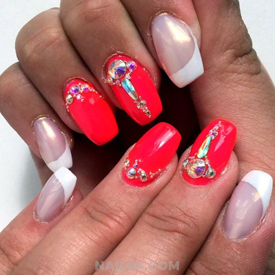 Colorful And Stately Gel Manicure Design Ideas - neat, nailstyle, nail, cool, style