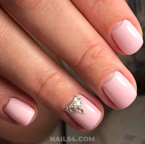 Colorful & Hot American Gel Manicure - sexy, hollywood, nailidea, nails