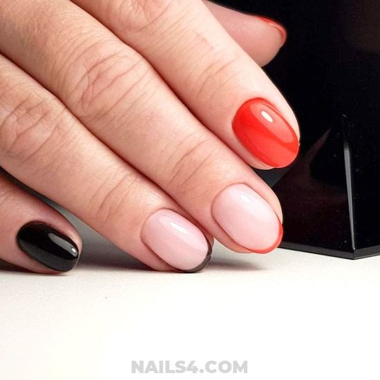 Cool And Iconic Gel Nail Style - nailtech, attractive, cunning, nails