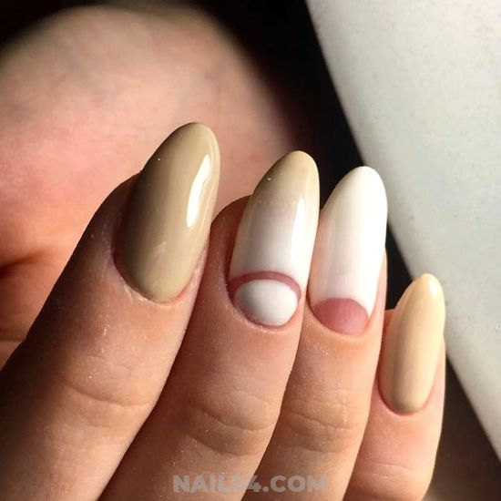 Cool And Simple Acrylic Manicure - gettingnails, cunning, top
