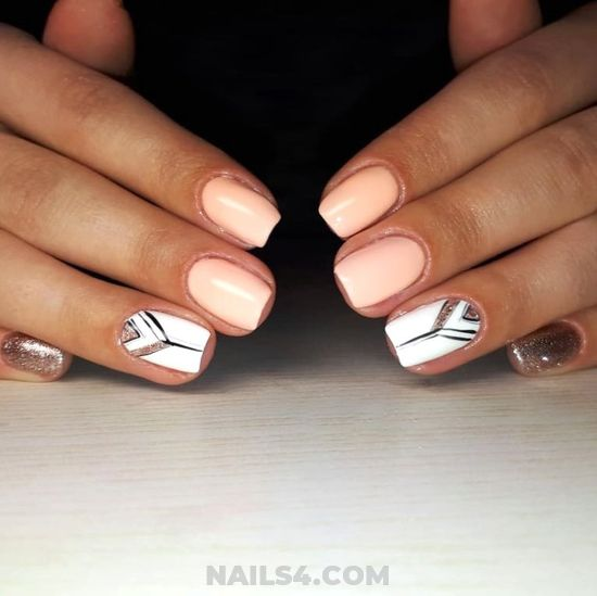 Creative & Graceful French Nail - dainty, love, fashion, party