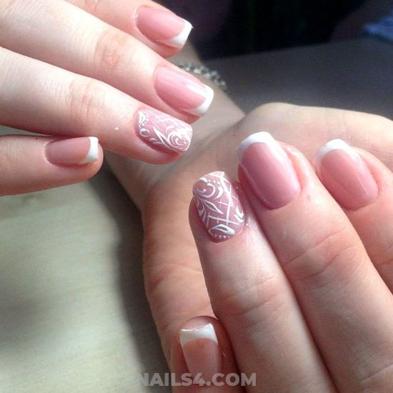 Cute And Stately French Gel Manicure Ideas - sweet, gelnails, hilarious, nail