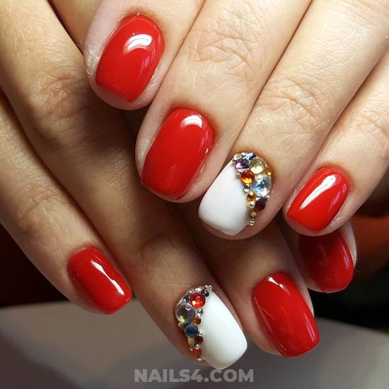 Cutie & Loveable Gel Manicure Style - creative, naildesigns, nail, idea