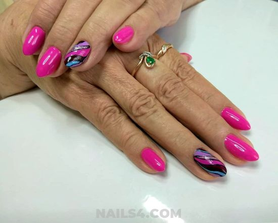 Cutie & Lovely Acrylic Manicure Ideas - nice, royal, naildesign, nails