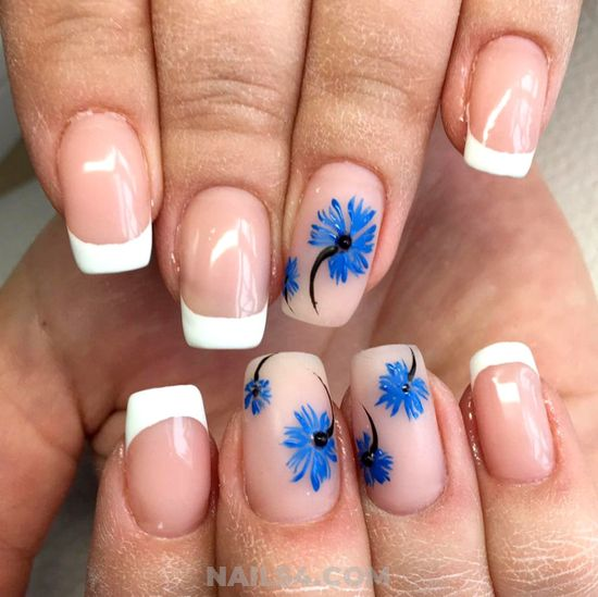 Delightful French Acrylic Nail Design Ideas - nice, beautytricks, nailidea, nail