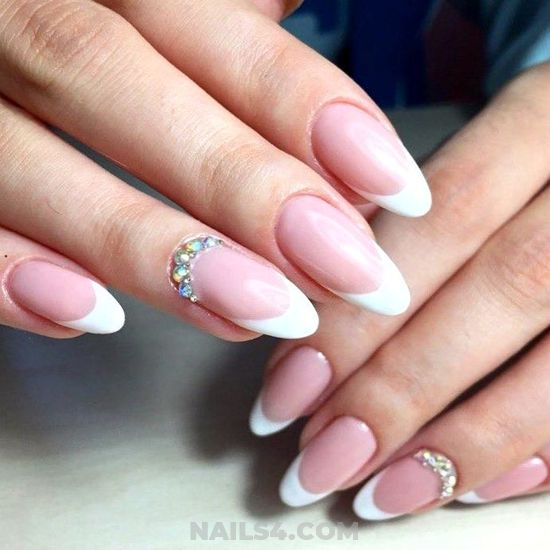Delightful & Inspirational French Nails Design Ideas - getnails, nailidea, nail, charming