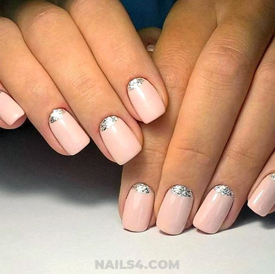 Delightful & Nice French Manicure Art Design - nails, sweetie, star, charming