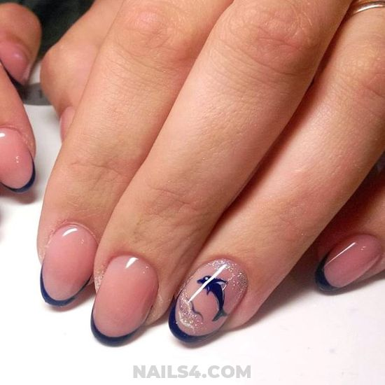 Easy Girly American Nails Trend - getnails, nailideas, nails, nailtech