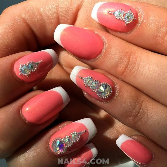 Enchanting And Gorgeous Gel Manicure Idea - simple, beautiful, diynailart, nails