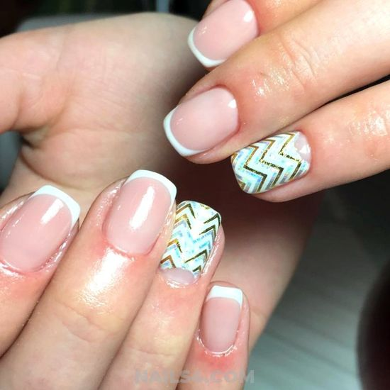Fashionable Handy American Gel Manicure Style - style, diynailart, trendy