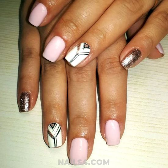 Girly Iconic Gel Manicure - nailsdone, nails, dainty, party