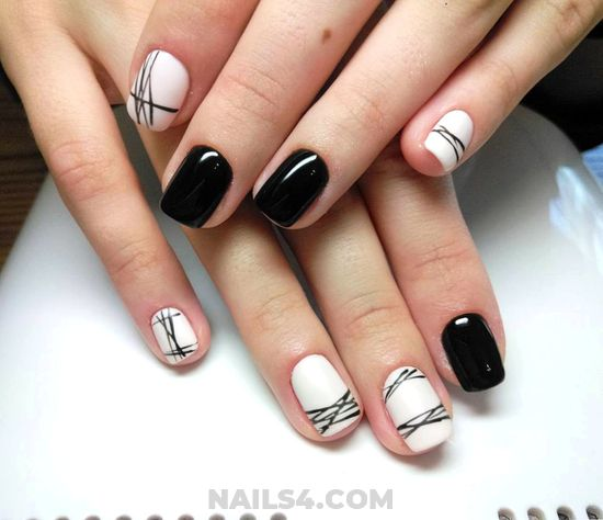 Glamour & Best Gel Manicure Art Ideas - pretty, beautyhacks, nail