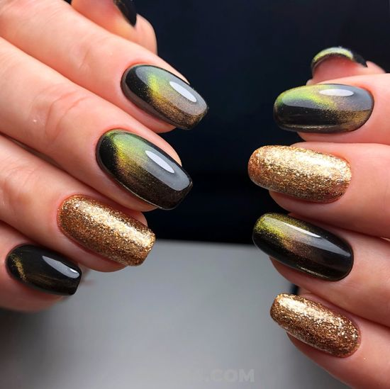 Glamour & Classic American Gel Nails - trendy, graceful, ideas