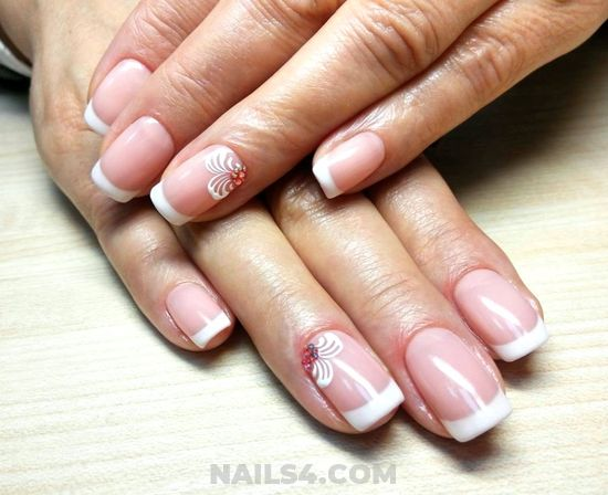Glamour Dainty American Nail Ideas - top, nail, naildesigns