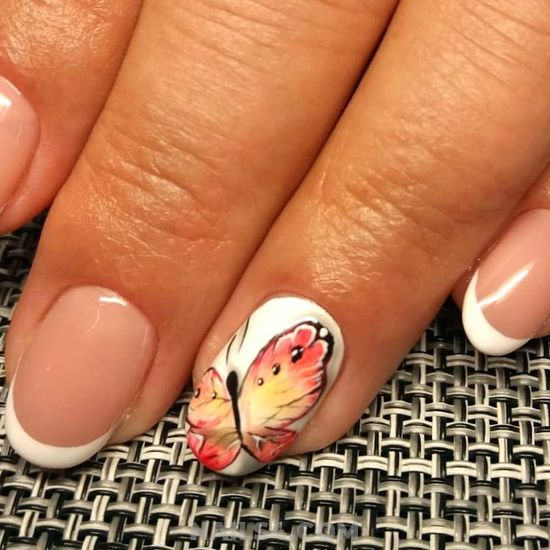 Gorgeous And Casual American Nails Design - teen, cute, nails, nailartideas, love