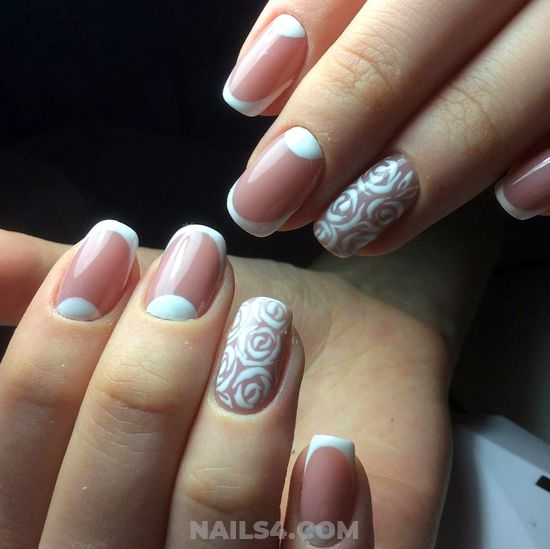 Gorgeous Creative Gel Manicure Art - elegant, hollywood, nails, nailstyle