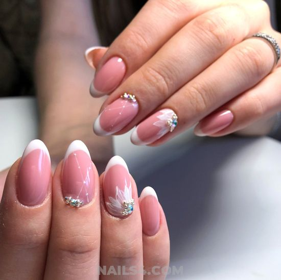 Graceful Colorful French Acrylic Nails Trend - gelpolish, sexiest
