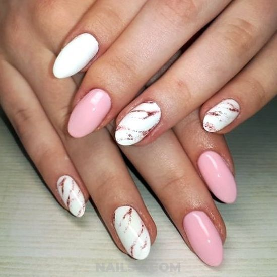 Graceful Girly American Gel Nails Design - cute, getnails, naildiy, magic, nail