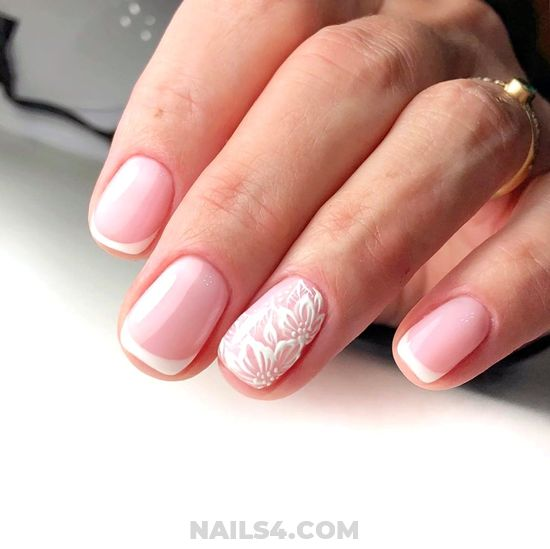 Handy Adorable Gel Nail Idea - simple, nail, nailideas, diy, star