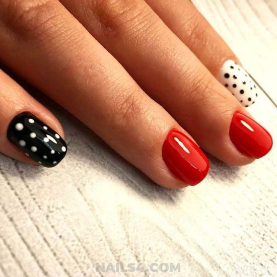 Handy And Chic Gel Nails Design - sexy, nails, nailstyle, style, diy