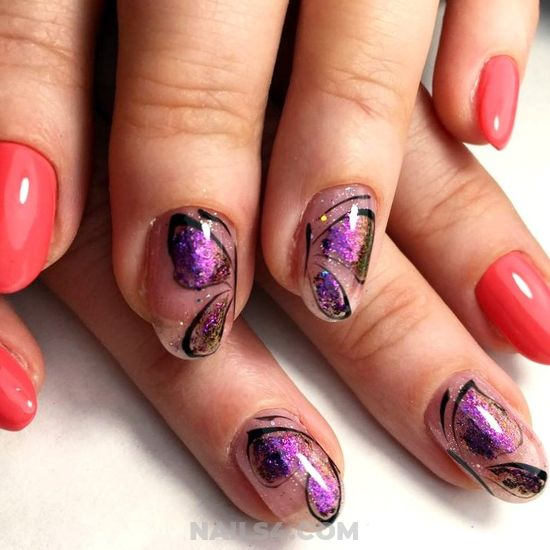 Handy And Feminine Gel Nail Idea - nailidea, gel, gotnails
