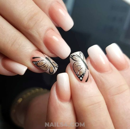Hot And Creative French Acrylic Nails Art Ideas - elegant, magic, super, nail