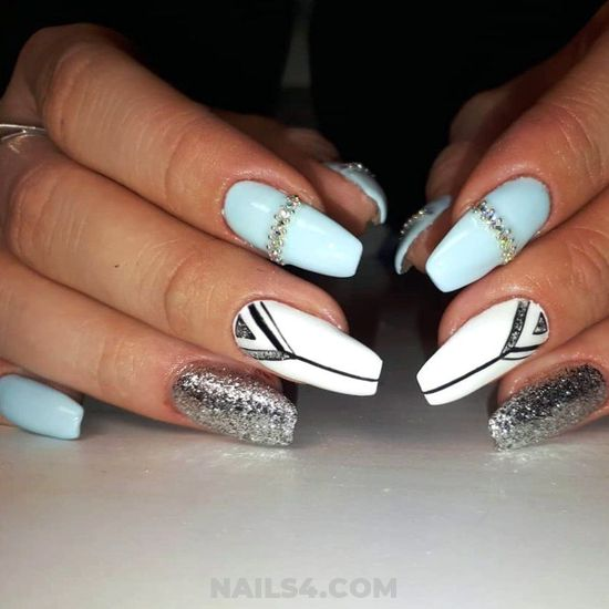 Incredibly And Best American Acrylic Manicure Trend - star, glamour, charming, shiny, nails