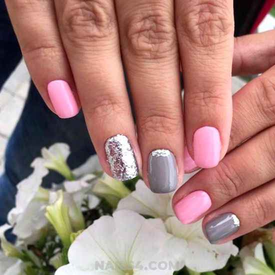 Lovable And Chic Gel Manicure Style - gorgeous, diynailart, nails, shiny