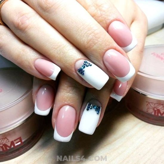 Lovely And Enchanting French Nails Trend - nail, furnished, inspiration, smart
