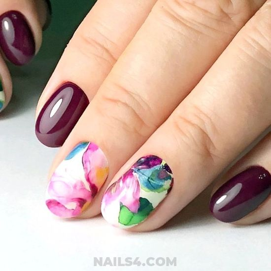 My Dream & Simple Manicure Idea - love, diynailart, nail, royal