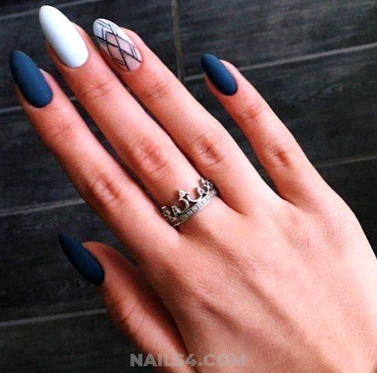 My Dreamy Orderly French Acrylic Nail Design Ideas - nailartdesign, nail, elegant, idea