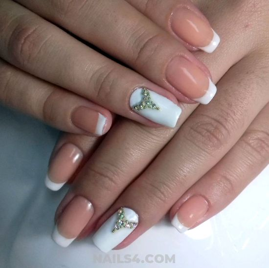 My Enchanting Neat French Acrylic Manicure Art Ideas - nail, nailartideas, lovely, design
