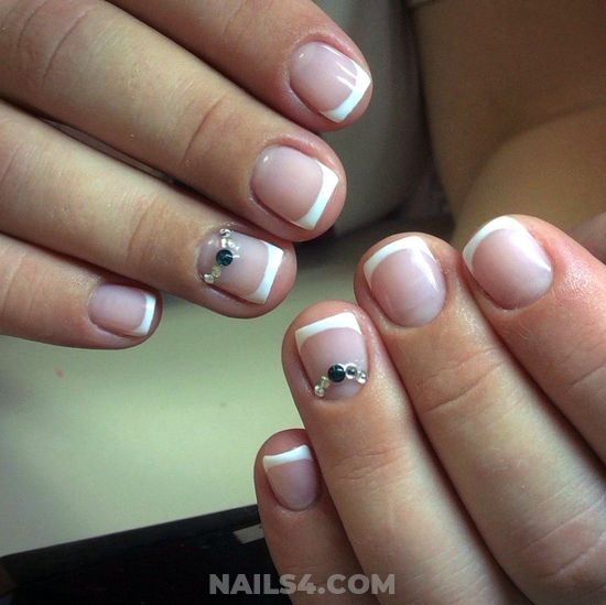 Neat And Delightful American Gel Manicure Art Ideas - gel, top, nail, naildesign, cunning