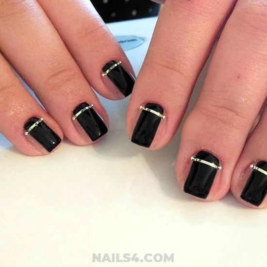 Orderly And Girly Nail Design Ideas - nailidea, nails, star, perfect