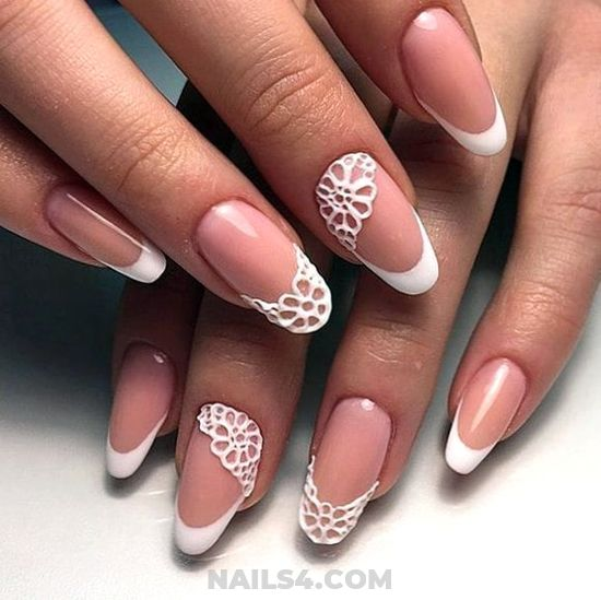 Perfect & Cute American Nails Ideas - nail, glamour, manicure, naildiy