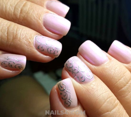 Pretty And Adorable Gel Nails Ideas - handsome, inspiration, nail, trendy