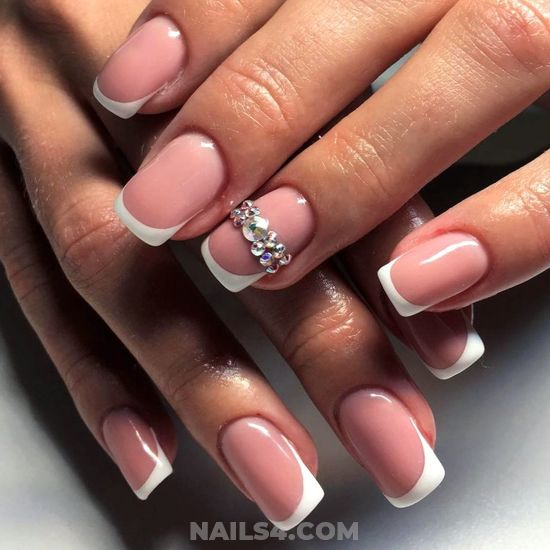 Pretty And Best French Acrylic Nails Trend - clever, diynailart, nail, lifestyle