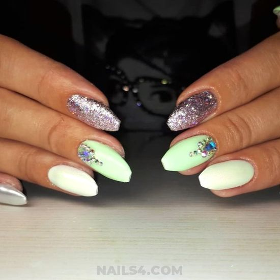 Professionail Balanced American Acrylic Nails Art Ideas - idea, simple, nailartideas, nail