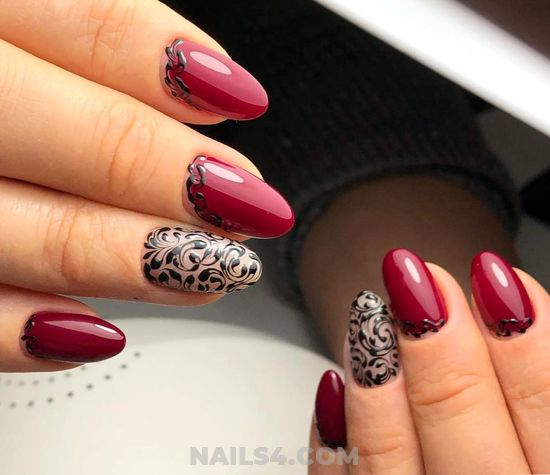 Professionail Cool Manicure Style - simple, clever, glamour, nails