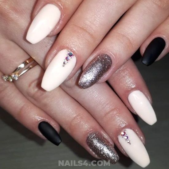 Professionail & Feminine French Gel Nail - star, charming, extremelycute, nails