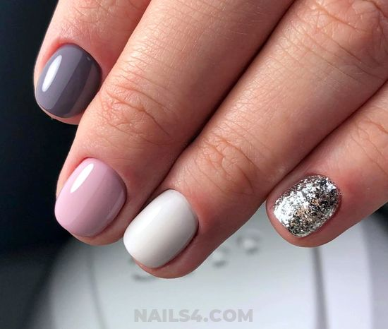 Simple And Feminine Gel Manicure Idea - delightful, nails, teen, nailtech