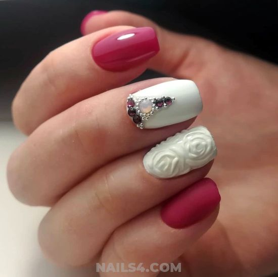 Simple & Attractive Nails Design - lovely, idea, nail, beautytutorial