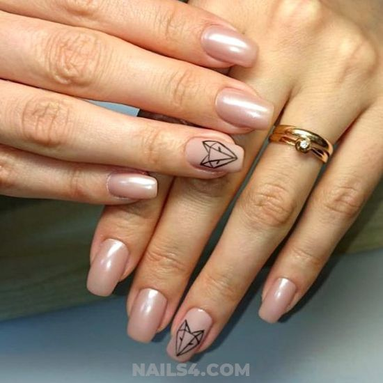 Simple Classy Gel Manicure Design Ideas - gotnails, top, gel, nails, cunning