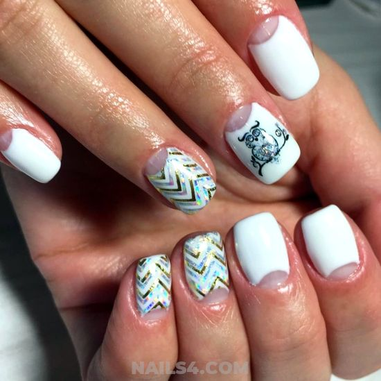 Simple Fantastic American Manicure Art Ideas - glamour, nail, neat, artful
