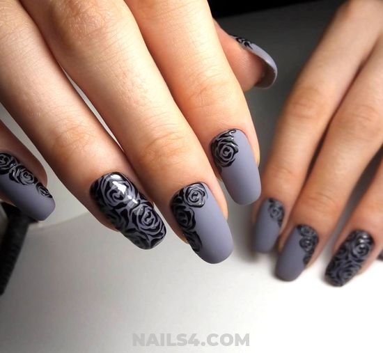 Top Classic French Acrylic Nails Design - artful, diy, nails, nailideas, neat