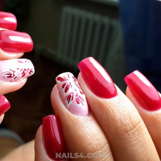 Trendy & Adorable French Gel Manicure Art Ideas - star, nailideas, nails, plush, cool