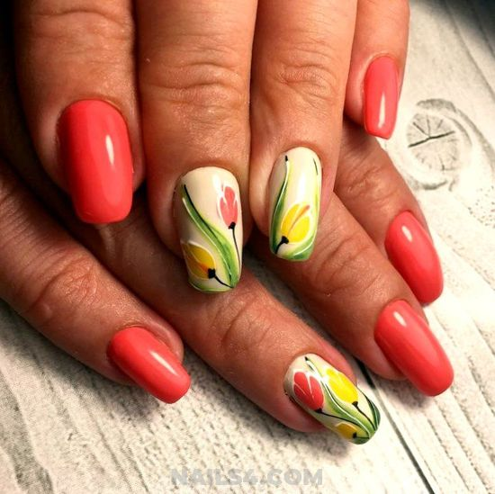 Trendy And Girly Gel Manicure Design Ideas - nailart, beautiful, cutie, shiny